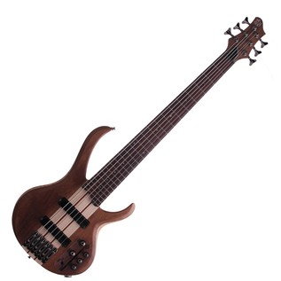Ibanez BTB676 6-String Bass Guitar, Natural Flat