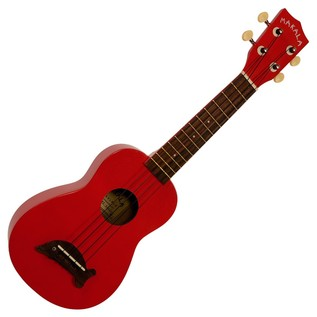 Kala Makala Dolphin Soprano Ukulele, Candy Apple Red