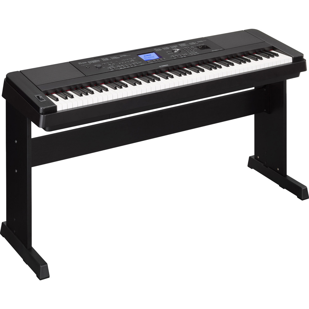 yamaha dgx660 digital piano with stand black at