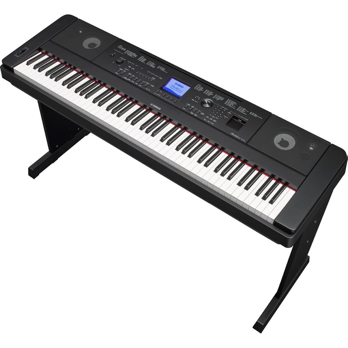 Yamaha dgx660 digital piano with stand black at for Yamaha piano com