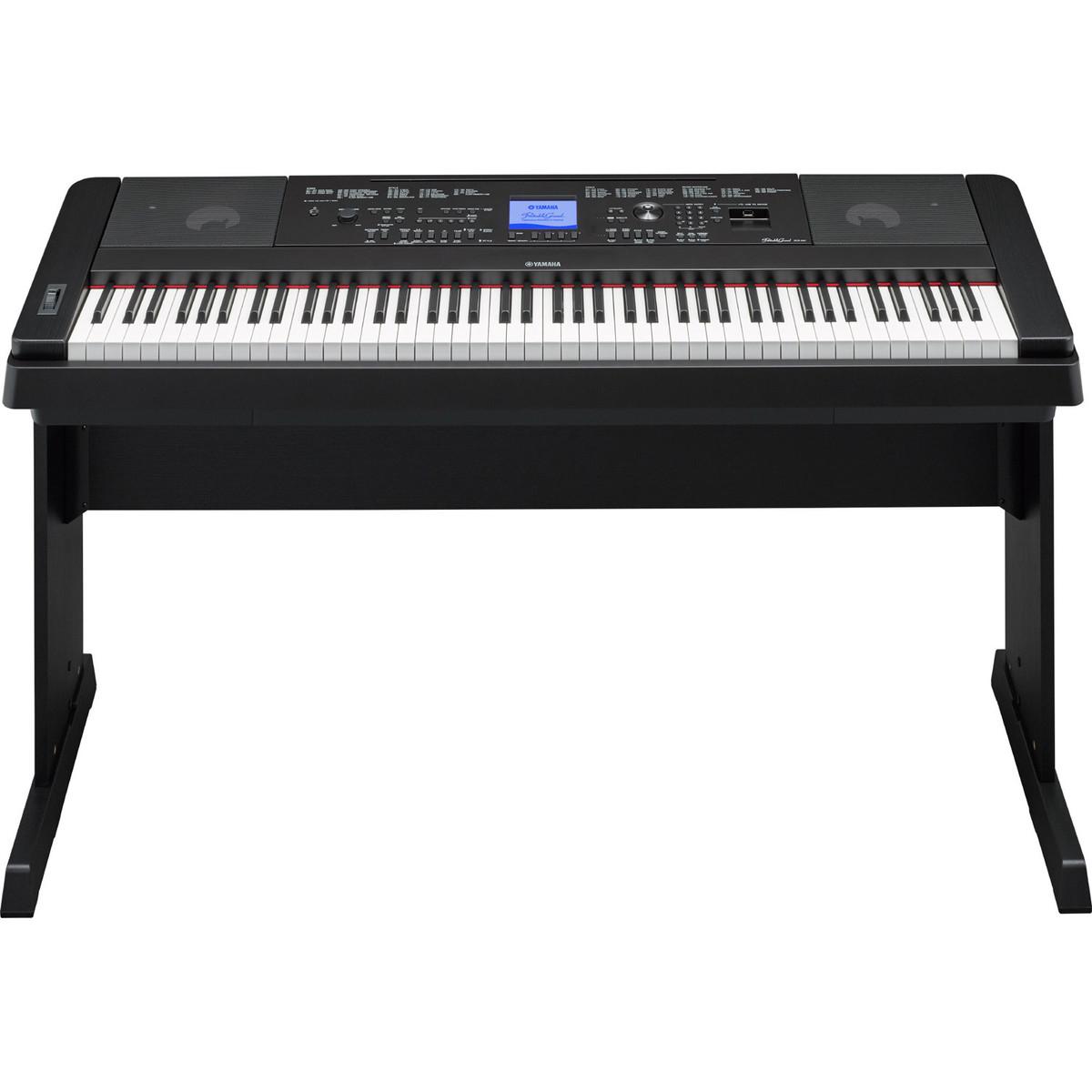 Yamaha dgx660 digital piano with stand black at for Digital piano keyboard yamaha