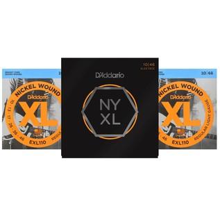 DISC D'Addario EXL110 + NYXL1046 Regular Light Strings 10-46, 3 Pack ...