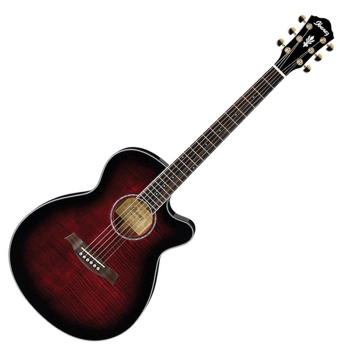 disc guitare electro acoustique ibanez ael20e rouge dgrad. Black Bedroom Furniture Sets. Home Design Ideas