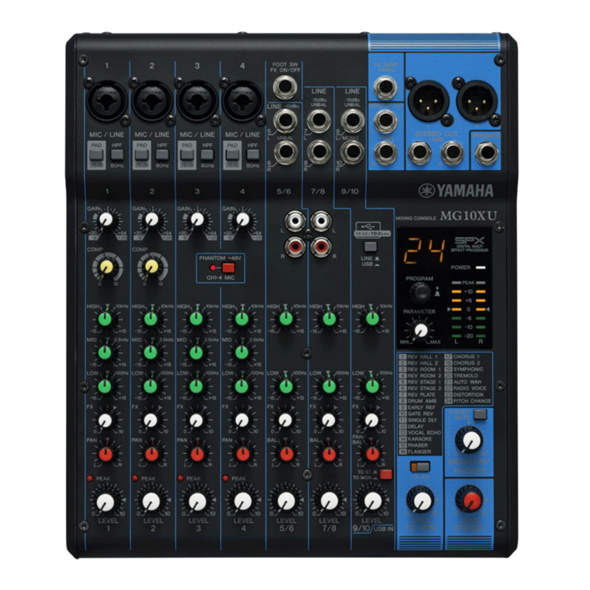 yamaha mg10xu analog usb mixer ex demo at. Black Bedroom Furniture Sets. Home Design Ideas