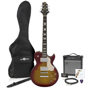 Greg Bennett Avion AV-3 Electric Guitar + Amp Pack, Cherry Sunburst