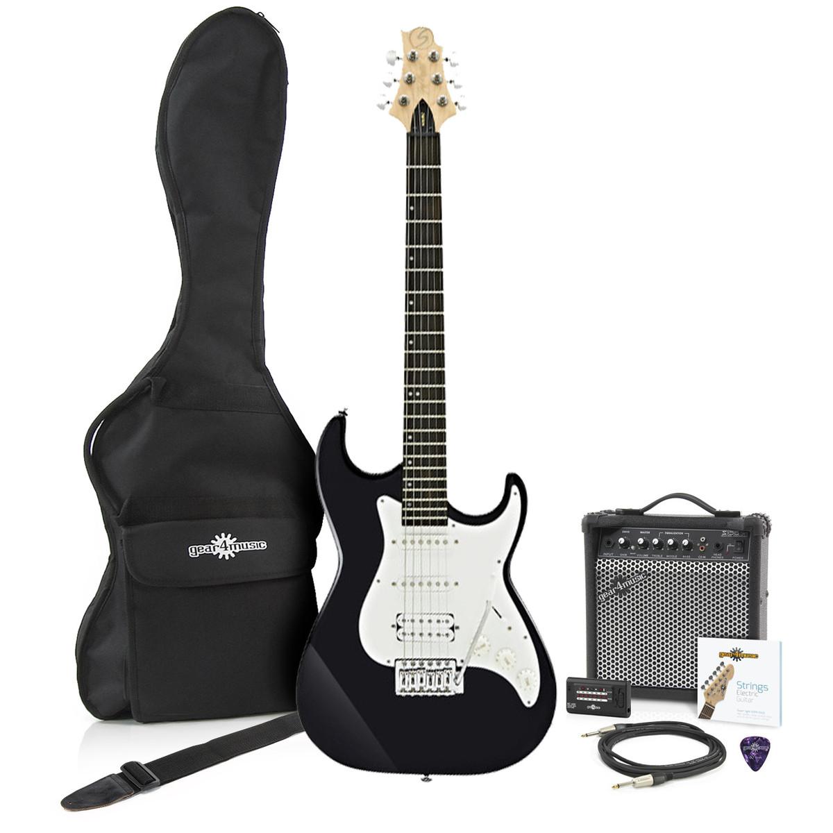 greg bennett malibu mb 2 electric guitar amp pack black at. Black Bedroom Furniture Sets. Home Design Ideas