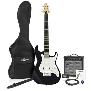 Greg Bennett Malibu MB-2 Electric Guitar + Amp Pack, Black