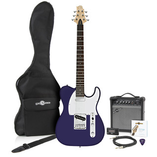 Greg Bennett Formula FA-1 Electric Guitar + Amp Pack, Midnight Blue