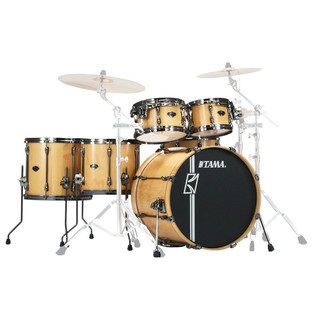 Tama Superstar HyperDrive 6pc Limited Shell Pack, Matte Lacebark Pine