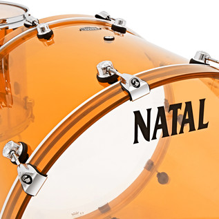 Natal Arcadia 4 Piece Acrylic Shell Pack, Transparent Orange