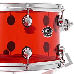 Natal Arcadia 4 Piece Acrylic Shell Pack, Transparent Red