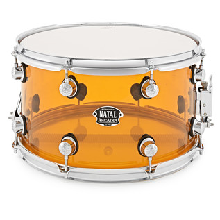 Natal Arcadia 14 x 8 Acrylic Snare, Transparent Orange