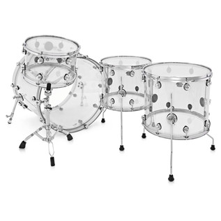 Natal Arcadia 4 Piece Acrylic Shell Pack, Transparent