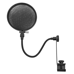 Microphone Pop Filter Shield for Mic Stand by Gear4music