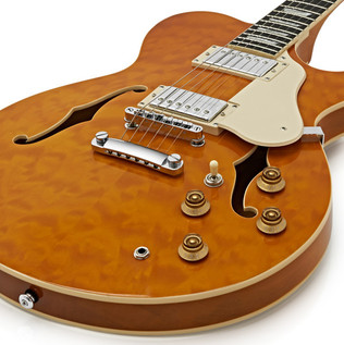 Greg Bennett Royale RL-3 Guitar + SubZero V35RG Amp Pack, Amber