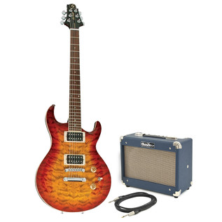 Greg Bennett Ultramatic UM-3 Guitar + SubZero Tube Amp Pack, Orange