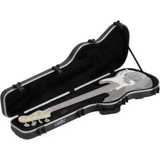 SKB Standard Bass Case - Open (Guitar Not Included)