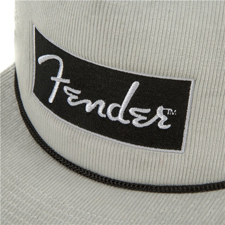 Fender Cord Flat Brim Hat, White/Grey