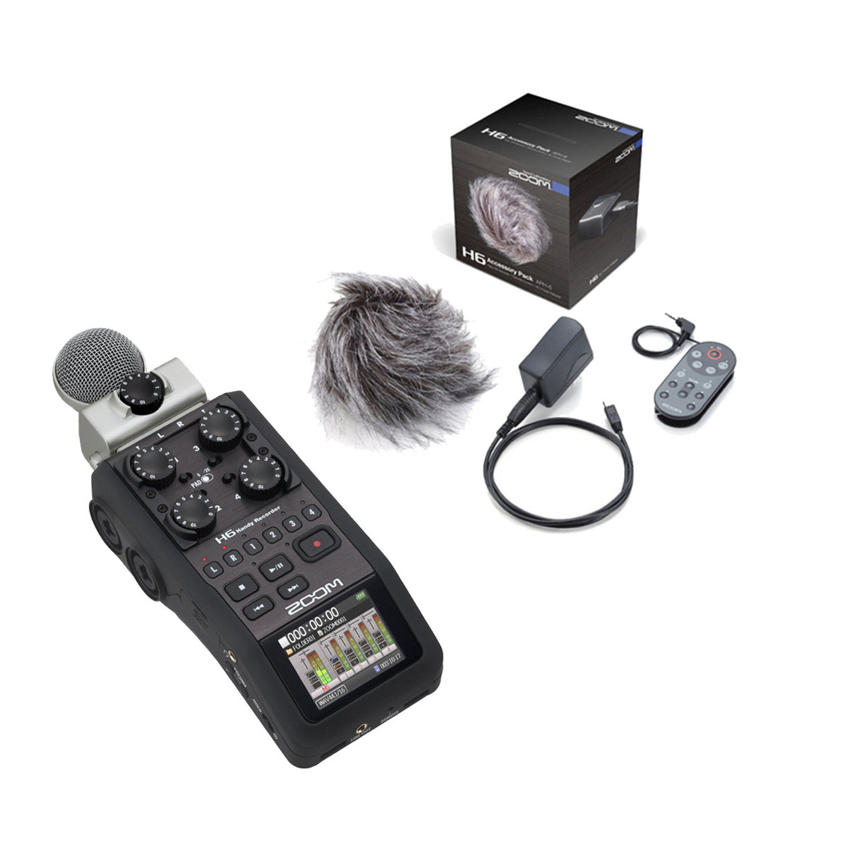 Image of Zoom H6 Handheld Recorder with Accessory Pack
