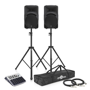 Mackie SRM450 V3 PA System with Mixer, Stands + Cables