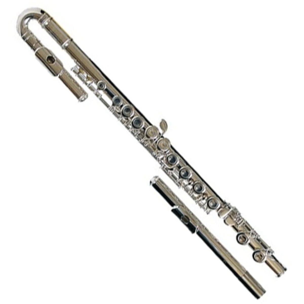 yamaha yfl211u curved head flute ex demo at