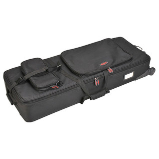 SKB 61-Key Keyboard Soft Case with Wheels - Angled