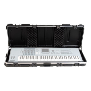 SKB ATA 76 Note TSA Keyboard Case With Wheels - Open (Keyboard Not Included)