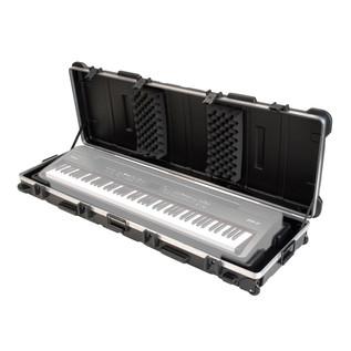 SKB ATA 88 Note Slim Line Keyboard TSA Case - Open (Keyboard Not Included)