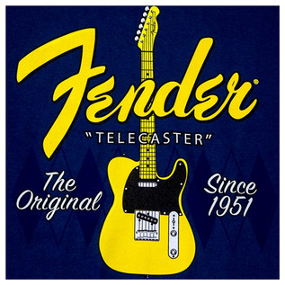 Fender Telecaster Since 1951 T-Shirt, Argyle Blue, Small