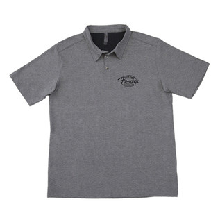Fender Industrial Polo Shirt, Grey, Small