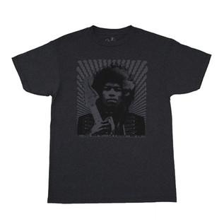 Fender Jimi Hendrix Kiss The Sky T-Shirt, Grey, Small