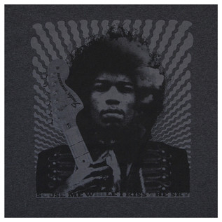 Fender Jimi Hendrix Kiss The Sky T-Shirt, Grey, Large