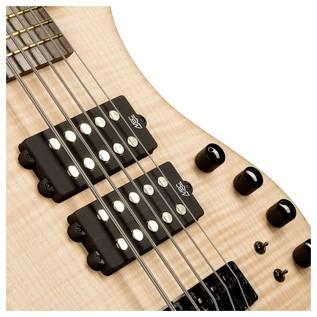 Warwick Corvette $$ 5-String Bass Guitar, Natural Oil Finish