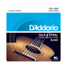 D'Addario EJ40 Silk & Steel guitare acoustique cordes, 11-47