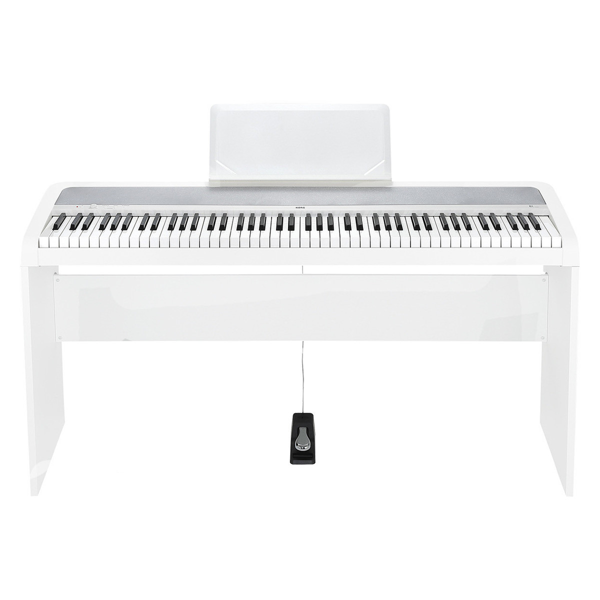 Image of Korg B1 Digital Piano Wooden Stand Package White