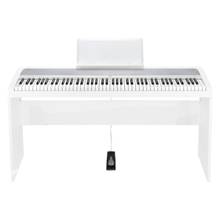 Korg B1 Digital Piano Wooden Stand Package, White
