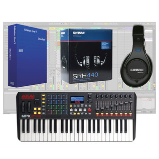 Akai MPK249 Controller, Ableton live 9 and Shure SRH440 Headphones - Bundle