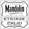 D'Addario J7401.011 vanligt stål enda första sträng för Mandolin
