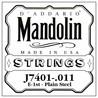 D'Addario J7401.011 pianura in acciaio prima stringa singola per mandolino