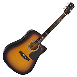 Squier By Fender SA-105CE Dreadnought Cutaway, Sunburst
