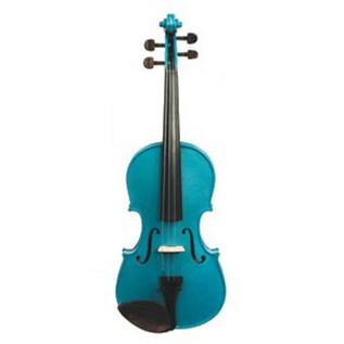 Stentor Harlequin Violin Outfit, Marine Blue, 4/4