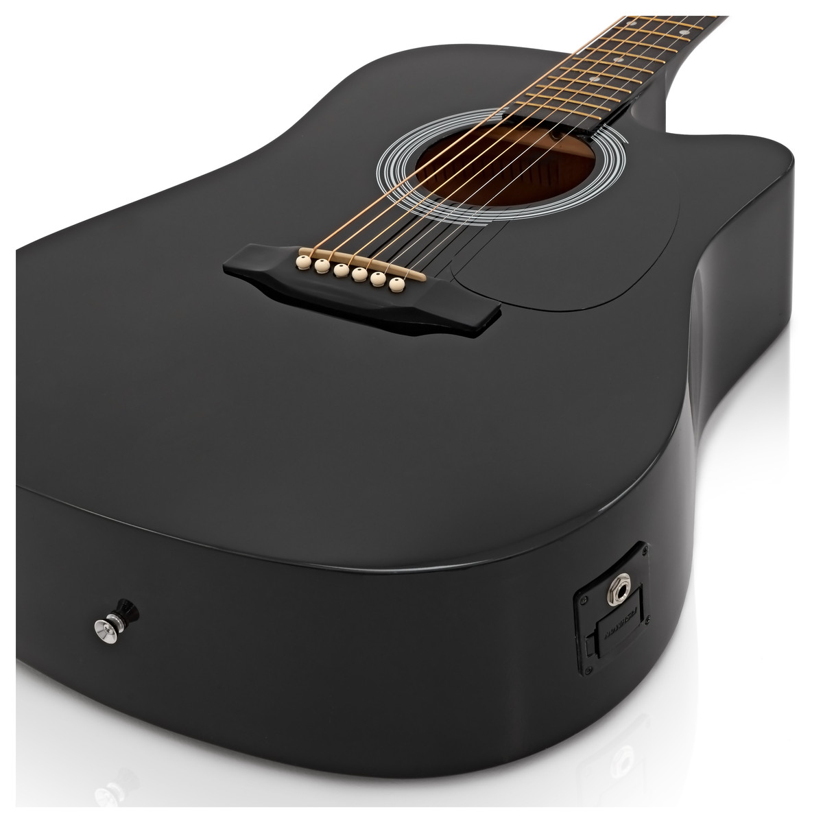 squier by fender sa 105ce electro acoustic guitar black at. Black Bedroom Furniture Sets. Home Design Ideas