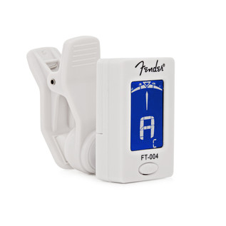 Fender FT-004 Chromatic Clip On Tuner, White