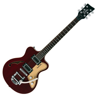 Italia Maranello 61 Semi-Hollow Body Guitar, Thru Burgundy w/ Gig Bag