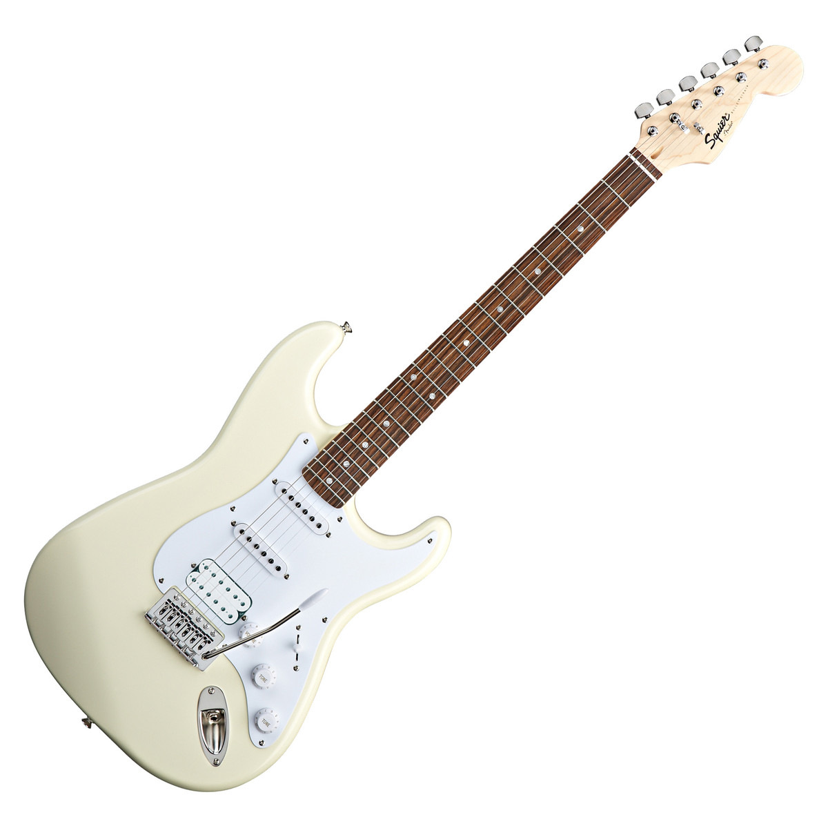Guitar and Bass Squier by Fender Bullet Stratocaster with HSS Arctic White CDD