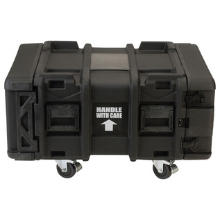 SKB 24'' Deep 4U Roto Shockmount Rack Case - Front Closed