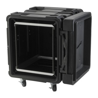 SKB 24'' Deep 12U Roto Shockmount Rack Case - Angled Open