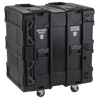 SKB 24'' Deep 16U Roto Shockmount Rack Case - Angled