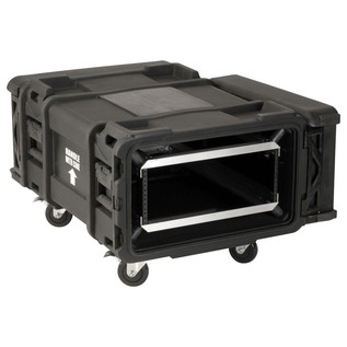 SKB 28'' Deep 4U Roto Moulded Shock Rack Case - Angled Open