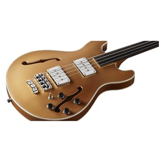 Warwick Rockbass StarBass 4-String Fretless Bass, Gold Metallic